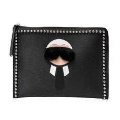 162b7baac075 Fendi Karlito Studded Saffiano Leather   Mink Fur iPhone 6 Case ...