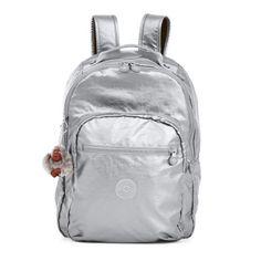 Seoul Metallic Laptop Backpack - Platinum Metallic