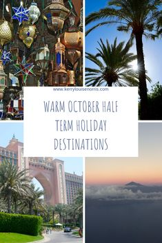 More and more people are searching for the sun during October half term and jetting off on an aeroplane to find it. October Holiday Destinations, Romantic Holiday Destinations, Family Destinations, October Half Term Holidays, Long Haul, Water Slides, Best Location, Tenerife, Stargazing