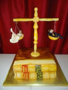 Grooms cake - Scales of Justice
