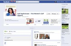 Golf Sophisticate (Golf Belles client) before Facebook Brand Page Tune-Up. https://www.facebook.com/GolfClothes