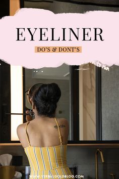 Applying eyeliner is one of the best ways to make your eyes pop, but there are a few mistakes to be aware of! On this post, I share some of my top beauty tips on eyeliner do's and dont's! #Beauty #Makeup