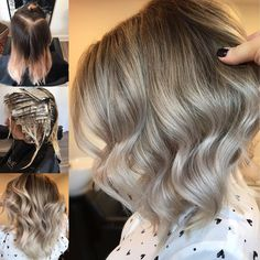 """431 Likes, 3 Comments - Hottes Hair Design (@jamiehottes_hair) on Instagram: """"Cool Blonde Balayage full head of foils using @wellahair Blondor roots 9%+ @olaplex ends 1.9%+…"""""""
