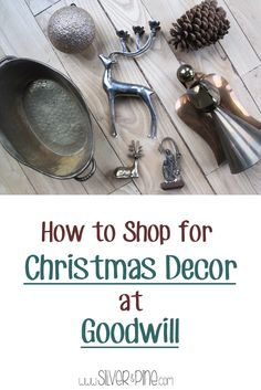 Great ideas to help you decorate your home for Christmas, with decorations from Goodwill.