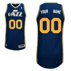 79656817e Adidas Utah Jazz Custom Authentic Road Jersey Nba Basketball Teams