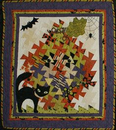 "'Halloween Night' - 34"" x 34"" - Quiltmaker: Elsa Tutt"