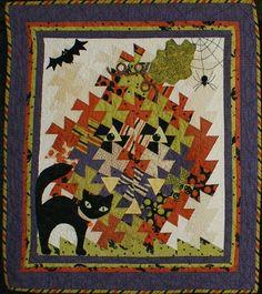 "'Halloween Night' - 34"" x 34"" - Quiltmaker: Elsa Tutt"