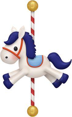 Pony on merry go round
