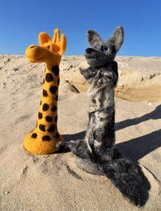 GfK-WoGi 6 Giraffe, Wolf, Animals, Figurines, Basteln, Animais, Animales, Animaux, Wolves
