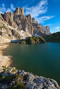 Lake Coldai, Dolomites, Veneto, Italy Belluno