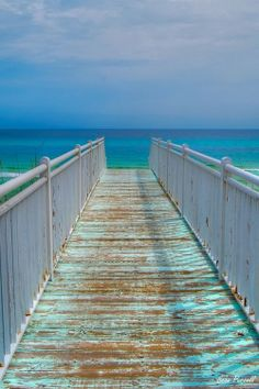 Blue.. nothing like a walk on the pier..