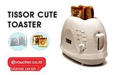 Panggang rotimu dengan mudah menggunakan Tissor Cute Toaster hanya dengan Rp. 110,000 - www.evoucher.co.id #Promo #Diskon #Jual  klik > http://www.evoucher.co.id/deal/tissor-cute-toaster-oktober-2013  Kini kamu bisa memanggang roti dengan mudah dengan Tissor Cute Toater, tak perlu lagi menunggu lama karena tissor cute toater memiliki timer, sehingga mudah mengetahui saat rotimu sudah siap untuk dihidangkan.   Pengiriman akan dilakukan mulai 28 Oktober 2013
