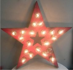 For bonus room! movie room! Vintage Fairground/Circus Bulb light star c.1960 -  GBP 795 :(