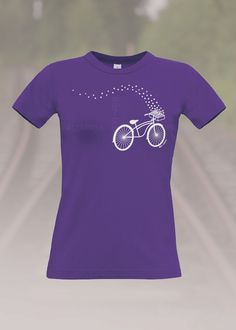 Fahrrad T-Shirt Lila Bike T-Shirt Purple
