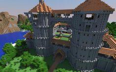 Minecraft Castle Render