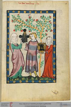 Codex Manesse, Herr Otto vom Turne, Fol 194r, c. 1304-1340