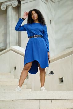 Essie Skirt Blue Pernille Fristad Kepaza playful, colourful, ootd and street style designer fashion brand Fashion Brand, Fashion Design, Sustainable Clothing, Comfortable Outfits, Essie, A Line Skirts, Going Out, High Waisted Skirt, Feminine