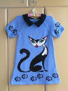 . Платье с кошкой