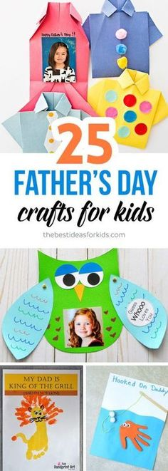 Father's Day Craft Ideas for Kids with easy crafts toddlers, preschoolers can do for Dad! Father's Day Gift Ideas, Father's Day Card Ideas for Kids via Handmade Father's Day Gifts, Diy Father's Day Gifts, Father's Day Diy, Fathers Day Crafts, Happy Fathers Day, Gifts For Father, Sister Gifts, Projects For Kids, Diy For Kids