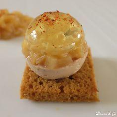 Boule of foie gras, Sauternes jelly and pear brunoise - recettes - [post_tags Foie Gras, Tapas, Chefs, Fingers Food, Food Porn, Brunch, Appetisers, Creative Food, Food Inspiration