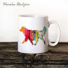 Weimaraner Mug Watercolor Ceramic Mug Unique Gift Coffee Mug Animal Mug Tea Cup Art Illustration Cool Kitchen Art Printed mug dog Tea Cup Art, Tea Cups, Golden Retriever Gifts, Cerámica Ideas, Watercolor Books, Animal Mugs, Kitchen Art, Kitchen Dining, Weimaraner
