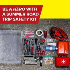 Be a hero with this summer road trip safety kit.