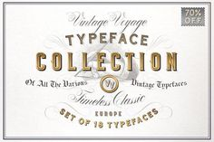 Premium Vintage Typeface Collection • 70% Off Recommended by Creative Sofa