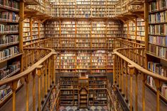 """protobibliothecarius: """" steampunktendencies: """" The abbey's library of Maria Laach """" Bookshelves I Have Longed For#148: """""""