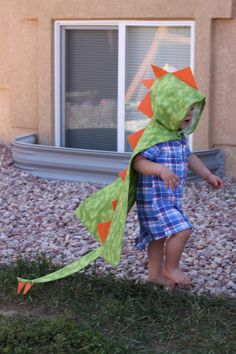 Dino Cape with Hood  - Dinosaur Costume -