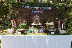 Fiesta del reino Encantado de las hadas: Decoración buffet