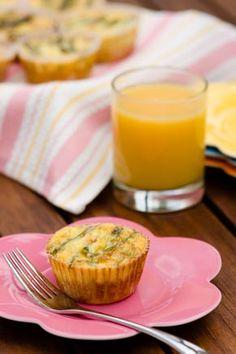 Crab & Asparagus Quiche Cupcakes