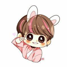 Jungkook Fanart, Vkook Fanart, Jungkook Cute, Bts Chibi, Anime Chibi, Vkook Memes, Bts Memes, Bts Backgrounds, Bts Drawings