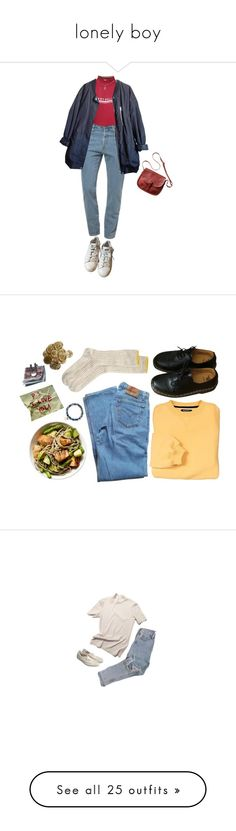 """""""lonely boy"""" by anzicuniverse ❤ liked on Polyvore featuring American Apparel, Wet Seal, Urban Outfitters, Toast, adidas, Dr. Martens, Levi's, Sydney Evan, Georg Jensen and Chicnova Fashion"""