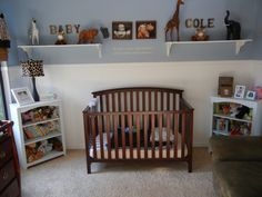 My baby boy's safari nursery