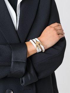 McQ Alexander McQueen 'Swallow' triple wrap bracelet