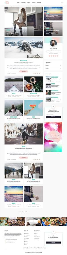 Zum is clean and modern design 3in1 responsive #WordPress #blogging #theme for creative writer and bloggers website download now..