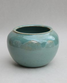 Glazed stoneware pot by Amy Myers, 2009