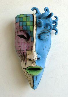 Inna Olshansky . Art . Israel   Masks