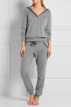 Calvin Klein Underwear Evolve brushed cotton-blend hooded top and pj pant
