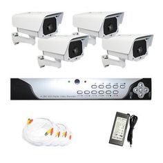 """Complete 4 Channel CCTV H.264 DVR (2T HDD) Surveillance Security System Package with (4) Pack of 600TVL Outdoor Security Camera by Gw. $1100.00. Package includes: GW9104V - 4 channel network DVR with 2T HDD; 4 x GW609 - 1/3"""" SONY CCD Camera; 2 x GW100CAW: 100 feet pre-made cable BNC; 2 x GW60CAW: 60 feet pre-made cable BNC; 1 x GW12V7A: 12V7A Power Supply for Security Cameras; 1 x GW124CA: 1 to 4 Power Splitter Adapter Cables.. Save 36%!"""