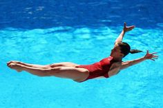 Julia Pakhalina of Russian Federation competes in the 1m Womens Springboard Diving at the Stadio del Nuoto on July 19, 2009 in Rome, Italy.