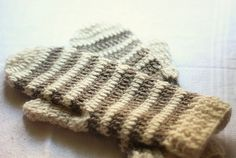 Crochet PATTERN for mittens (pdf file) - Striped Mittens (adult, teen, child sizes included)