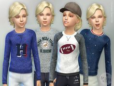 Designer Shirt for Boys Found in TSR Category 'Sims 4 Male Child Everyday'