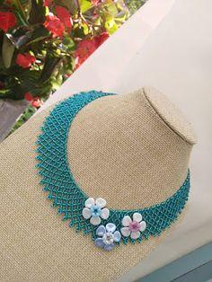 Beaded Necklace, Jewelry, Beaded Collar, Jewlery, Pearl Necklace, Jewerly, Schmuck, Beaded Necklaces, Jewels