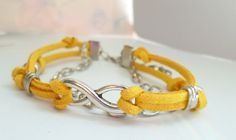 Wristbands – Leather Yellow Wristband – a unique product by Georg-Bracelets via en.DaWanda.com