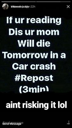 This is why the world hasn't advanced yet srsly what if someone's mom already died on a car crash and saw that??