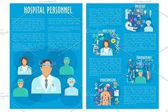 Vector medical brochure hospital personnel doctors. Medical Infographic