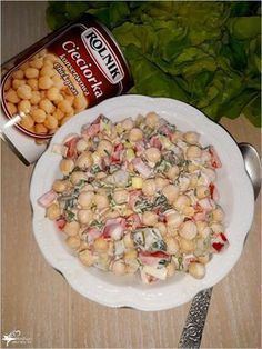 Kolorowa sałatka z cieciorką (2) Slow Food, Superfood, Pasta Salad, Potato Salad, Salads, Food And Drink, Dessert Recipes, Appetizers, Tasty