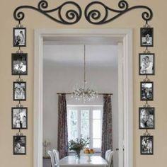 photo frames around door