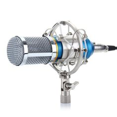 Metal Noise Canceling HD Sound Shockproof Live Broadcast Recording 3.5mm Condenser Microphone
